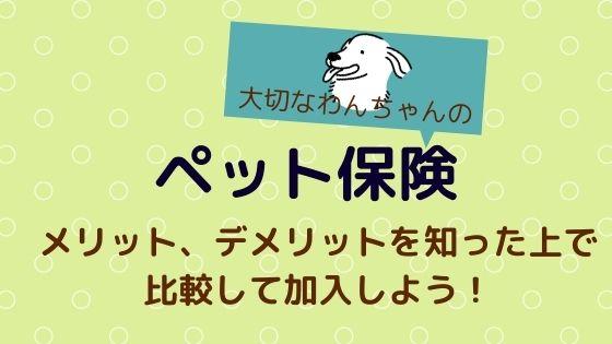 【ペット保険】メリット、デメリットを知った上で比較して加入しよう!